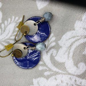 Unique penny coin design Earrings
